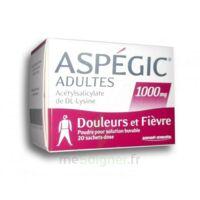 ASPEGIC ADULTES 1000 mg, poudre pour solution buvable en sachet-dose 20 à TIGNIEU-JAMEYZIEU