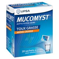 MUCOMYST 200 mg Poudre pour solution buvable en sachet B/18 à TIGNIEU-JAMEYZIEU
