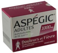 ASPEGIC ADULTES 1000 mg, poudre pour solution buvable en sachet-dose 15 à TIGNIEU-JAMEYZIEU