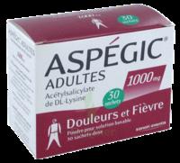 ASPEGIC ADULTES 1000 mg, poudre pour solution buvable en sachet-dose 30 à TIGNIEU-JAMEYZIEU