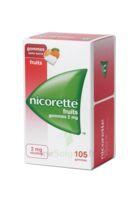 Nicorette 2 Mg Gomme à Mâcher Médicamenteuse Sans Sucre Fruits Plq/105 à TIGNIEU-JAMEYZIEU