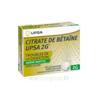 Citrate De Bétaïne Upsa 2 G Comprimés Effervescents Sans Sucre Menthe édulcoré à La Saccharine Sodique T/20 à TIGNIEU-JAMEYZIEU