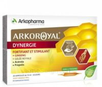 Arkoroyal Dynergie Ginseng Gelée royale Propolis Solution buvable 20 Ampoules/10ml à TIGNIEU-JAMEYZIEU