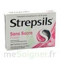 Strepsils Fraise Sans Sucre, Pastille édulcorée à L'isomalt, Au Maltitol Et à La Saccharine Sodique à TIGNIEU-JAMEYZIEU