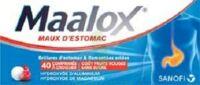 MAALOX MAUX D'ESTOMAC HYDROXYDE D'ALUMINIUM/HYDROXYDE DE MAGNESIUM 400 mg/400 mg SANS SUCRE FRUITS ROUGES, comprimé à croquer édulcoré à la saccharine sodique, au sorbitol et au maltitol à TIGNIEU-JAMEYZIEU
