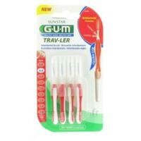 Gum Trav-ler 4 Brossettes Rouge Interdentaires 0.8mm à TIGNIEU-JAMEYZIEU