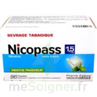 Nicopass 1,5 Mg Pastille Sans Sucre Menthe Fraîcheur Plq/96 à TIGNIEU-JAMEYZIEU