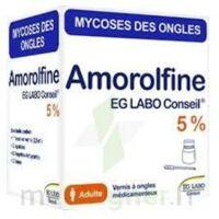 AMOROLFINE EG LABO CONSEIL 5 %, vernis à ongles médicamenteux à TIGNIEU-JAMEYZIEU