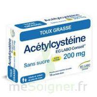 ACETYLCYSTEINE EG LABO CONSEIL 200 mg SANS SUCRE, poudre pour solution buvable en sachet-dose à TIGNIEU-JAMEYZIEU