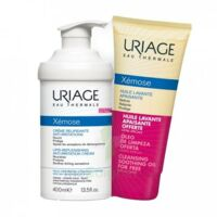Xémose Crème Relipidante Anti-irritations Fl Pompe/400ml + Huile Lavante 200ml à TIGNIEU-JAMEYZIEU