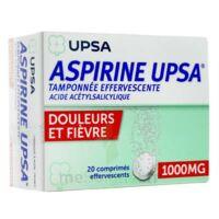 ASPIRINE UPSA TAMPONNEE EFFERVESCENTE 1000 mg, comprimé effervescent à TIGNIEU-JAMEYZIEU