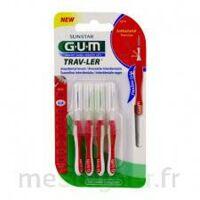 Gum Trav - Ler, 0,8 Mm, Manche Rouge , Blister 4 à TIGNIEU-JAMEYZIEU
