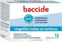 Baccide Lingette désinfectante mains & surface 12 Pochettes à TIGNIEU-JAMEYZIEU