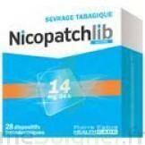 NICOPATCHLIB 14 mg/24 h Dispositifs transdermiques B/28 à TIGNIEU-JAMEYZIEU