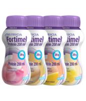 Fortimel Protein Nutriment multi saveurs caramel/vanille/fraise/mangue 4 Bouteilles/200ml à TIGNIEU-JAMEYZIEU