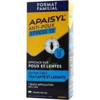 Apaisyl Anti-poux Xpress 15' Lotion Antipoux Et Lente 100ml+peigne à TIGNIEU-JAMEYZIEU