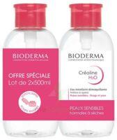 CREALINE H2O Solution micellaire nettoyante apaisante sans parfum 2Fl pompe inversée/500ml à TIGNIEU-JAMEYZIEU